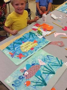 it's an HSES Arty Party! Kindergarten Line and Shape Oceans