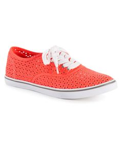 Perforated Canvas Sneaker - Aeropostale