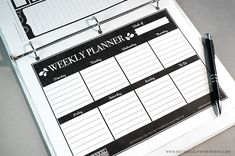 Get organized in style with these FREE Printable Weekly Planner pages.