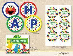 Sesame Street Elmo Printable Party Pack DIY by polkaprints, $25.00