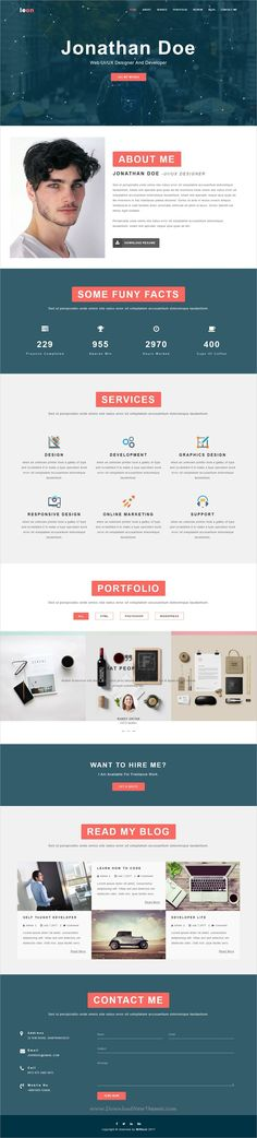 FEATHER - Multipurpose Responsive Personal Portfolio, Resume One - bootstrap resume template