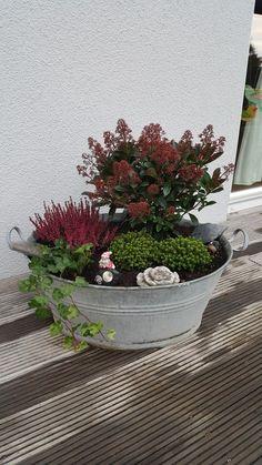 Pflanzen Dekoration Geschenk Garten Zinkwanne zum bepflanzen Oval,Muttertag