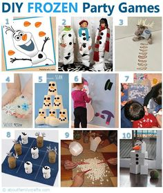 DIY Frozen Inspired Party Games. Loved the theme but was worried about games til I saw this. Well done all you mamas.
