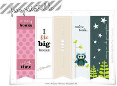 Misses Cherrys   Lieblinksdings: Free Printable Bookmarks