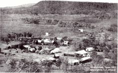 The earliest known photograph of Mineral Wells, Texas, taken in 1881 5 years before my grandfather Polk was born. West Texas, West Virginia, Mineral Wells Tx, Fun Facts About Texas, Old West Photos, Loving Texas, Abandoned Places, Abandoned Castles, Haunted Places