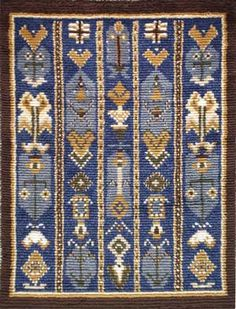 UURAINEN 1798 Rya Rug, Kilim Rugs, Wool Rug, Book Of Kells, Toot, Stitching, Weaving, Carpet, Textiles