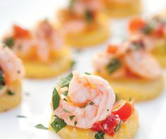 Mini Shrimp and Grits Cakes by epicurious #Appetizer #Shrimp #Grits