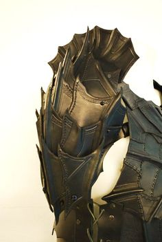 The new bracers for the (soon to be) complete drow armor I'm making for LARPing. These actually took some time..