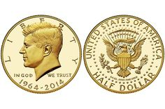 The First Gold Kennedy Half-Dollar: 2014 50th Anniversary Kennedy Half-Dollar Gold Proof Coin