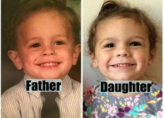 23 Photos Of Parents And Their Kids At The Same Age That You'll Swear Are Twins - brainjet.com