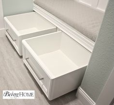Rolling Shoe Storage - Tutorial...also great for blankets, pillows, books, etc. from Being Home..use the old dresser drawers I have in basement add wheels for under bed