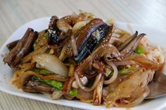 eel noodles stir fry | Taiwanese cuisine