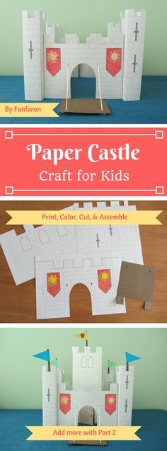 School Projects, Projects For Kids, Craft Projects, Crafts For Kids, Castles Ks1, Castle Crafts, Castle Project, Medieval Crafts, Cardboard Castle