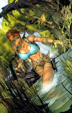 The Very Best of Women in Comics — Lara Croft, Tomb Raider. Bd Comics, Image Comics, Comics Girls, Comic Book Artists, Comic Books Art, Comic Art, Comic Pics, Fantasy Anime, Fantasy Girl