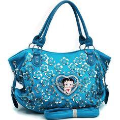 Betty Boop® Shoulder Bag with Rhinestone Florets