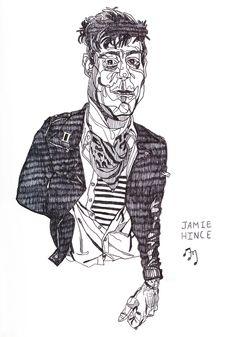 Jamie, 2012 Textile Art, Doodles, Textiles, Drawings, Sketches, Fabrics, Drawing, Portrait, Donut Tower