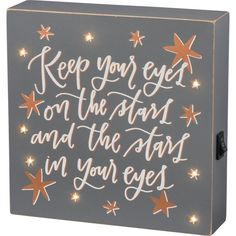 'Stars In Your Eyes' LED Box Sign