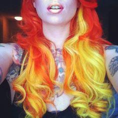 Fire (LOVE the volcano hair!)