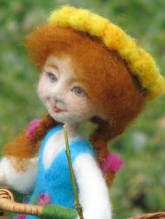 Needle felted Art doll Soft sculpture Goose girl von Made4uByMagic