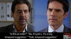 Criminal Minds Moments remember this!!