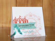 A sneak peek at one of my favourite stamp sets coming in the Occasions Catalogue.  It's called Carousel Birthday and it's a really fun set to layer and stamp as a collage.  www.creativestamping.co.nz | Stampin' Up! | 2017 Occasions Catalgoue