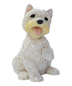 West Highland Terrier Puppy Statue