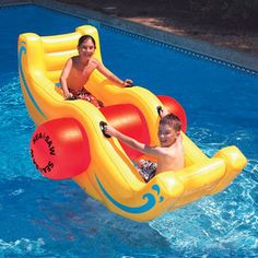 Swimline 9058 Swimming Pool Sea-Saw Rocker Pool Float Lounge Toy