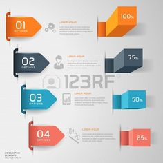 Modern #business steps infographic