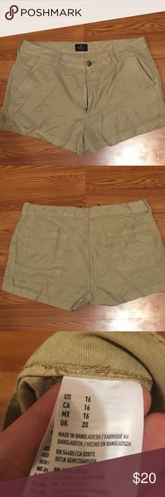 Women's American Eagle tan shorts Women's American eagle tan shorts new without tags never worn, true to size! American Eagle Outfitters Shorts Jean Shorts