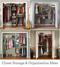 Make the most of your closet space with these storage solutions and organization ideas. Heim, Home Organization, Clothing Organization, Bedroom Closets, Kid Bedrooms, Closet Redo, Master Closet, Bedroom Closet Ideas For Small Spaces, Small Closets