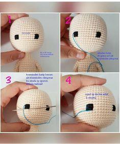 Amigurumi bella doll free crochet pattern, A wonderful amigurumi knit toy pattern is waiting for you. All models related to Amigurumi. Crochet Dolls Free Patterns, Crochet Doll Pattern, Doll Patterns, Free Crochet, Crochet Patterns Amigurumi, Amigurumi Doll, Crochet Crafts, Crochet Projects, Crochet Eyes