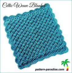 Crochet Pattern Celtic Weave Blanket by Pattern-Paradise.com