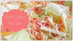 Good morning darlings :) I'm sharing with you another simple recipe today. I first tried this salad back when I was working in Makati. It was served for lunch at the boss' Japanese restaurant. Kani Salad, Asian Recipes, Yummy Recipes, Recipe Today, Side Dishes, Spicy, Cabbage, Easy Meals, Vegetarian