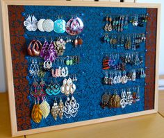 How To Make An Earring Holder   ... will be hanging on the wall where i do my make up and makeup videos