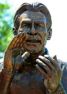 Actual Statue of Coach Saban #Saban For Great Blog Stories and Audio Podcasts Visit our Blog at www.RollTideWarEagle.com