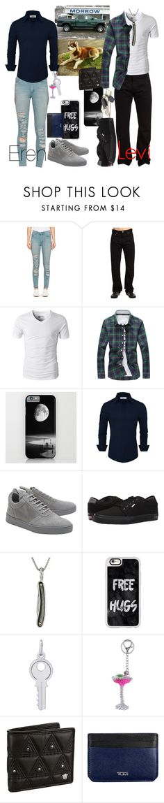 """""""Date Time"""" by vampirekitty34 ❤ liked on Polyvore featuring Cheap Monday, Levi's, Filling Pieces, Vans, Stephen Webster, Casetify, Rembrandt Charms, House of Holland, Versace and Tumi"""