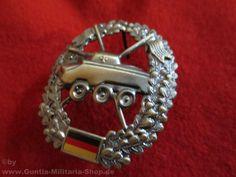 BW Barettabzeichen, Panzeraufklärer, Metall / mehr Infos auf: www.Guntia-Militaria-Shop.de