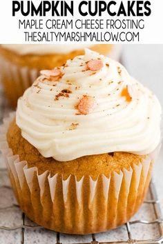 Perfect Cupcake Recipe, Cupcake Recipes, Baking Recipes, Cupcake Cakes, Dessert Recipes, Cupcake Flavors, Baking Ideas, Pumpkin Dishes, Pumpkin Recipes