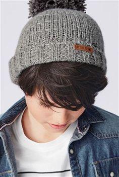 c91a6d49544 Grey Pom Beanie (3mths-6yrs) Boys Winter Hats