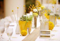 Billy Balls flowers, honeycomb jars
