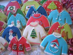 """Ugly Sweater"" Christmas Cookies www.facebook.com/sugarbyjulie"