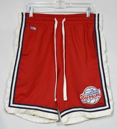 ABERCROMBIE & FITCH Mens Red Athletic Shorts Medium Drawstring Elastic Waist #AbercrombieFitch #Athletic