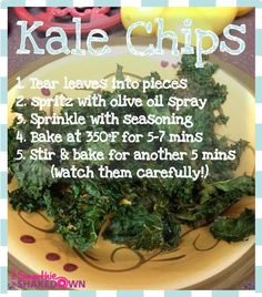 Healthy snack recipe: Kale Chips #FatFlush