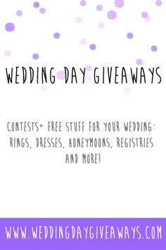 Wedding freebies a complete list of free wedding stuff and how to want free stuff for your wedding junglespirit Image collections