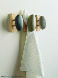 Sea Stones Coast Hook - Coat Hook - Hand Selected, Natural Stone Wall Hook with Elegant Wooden Backplate - Hang Your Coats, Towels, Robes & More with Both Indoors & Outdoor Uses Pack, Ash) Bathroom Towel Hooks, Bathroom Spa, Wood Bathroom, Bathroom Signs, Zen Bathroom Decor, Bohemian Bathroom, Rental Bathroom, Design Bathroom, White Bathroom