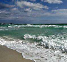Guests at Caribbean Resort enjoy spectacular Gulf-front views Navarre Beach, Caribbean Resort, Sandy Beaches, Condominium, Swimming Pools, Islands, How To Memorize Things, Coast, Sea