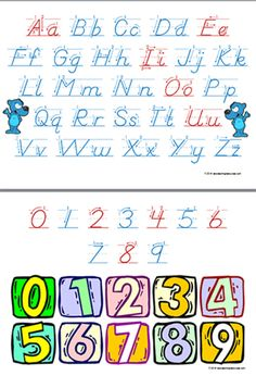 Letter formation charts for classroom wall display or handwriting practise reference sheet. Has starting point to assist in the correct letter formation. Classroom Wall Displays, Classroom Walls, Formation Management, Visible Learning, Letter Formation, Australian Curriculum, Handwriting Practice, Primary School, Classroom Management