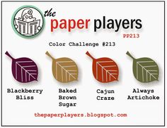 Paper Players #213: A Color Challenge from Anne Marie