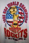 For Sale - new vtg HOUSTON ROCKETS WORLD CHAMPIONS 1995 T-SHIRT STARTER MENS WHITE LARGE L - See More At http://sprtz.us/RocketsEBay