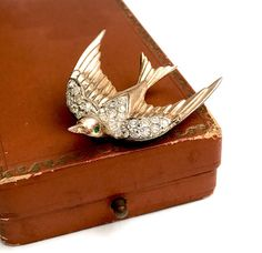 Coro Craft Sterling Flying Swallow Sterling Silver Fur Clip